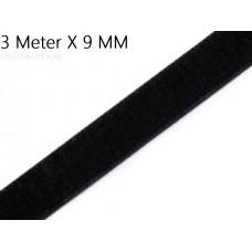 Zwart 9 MM X 3 Meter Fluweel Lint