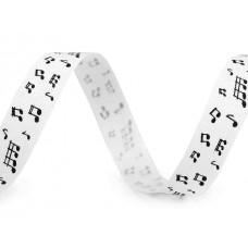 Wit Lint  Zwarte Muzieknoten