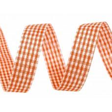 Ruitjes Lint Oranje 18 MM X 45 Meter