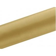 Satijn Stof op Rol Licht Goud 36 cm. Breed, 9 Meter per Rol
