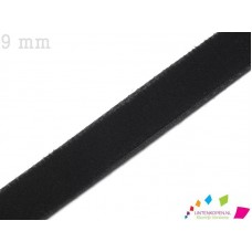 Zwart 9 MM X 20 Meter Fluweel Lint
