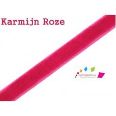 Fluweel Lint Karmijn Roze 3 mm