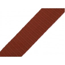 Tassenband bruin 20 mm