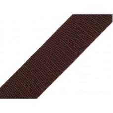 Tassenband donker bruin 20 mm