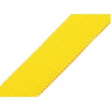 Tassenband geel 20 mm