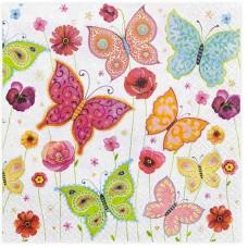 20 Servetten Vlinders