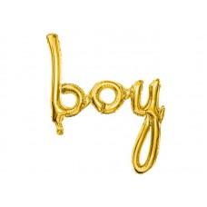 Ballon Baby Jongen Goud 77 x 70 Cm