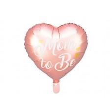 """Geboorte ballon  """"Mom te be"""" roze"""