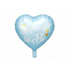 "Geboorte ballon  ""Mom te be"" blauw"