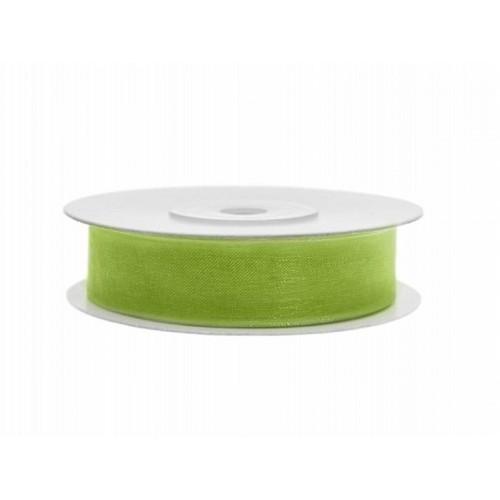Mooi afgewerkt chiffon lint in de kleur appel groen