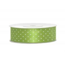 Polka Dot Lint Licht Groen 25 MM