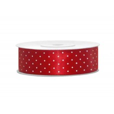 Polka Dot Lint Rood 25 MM