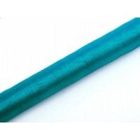 Turquoise Organza Stof op Rol 0,36 x 9 meter
