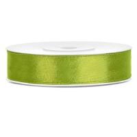 Appel Groen Satijn Lint 12 mm