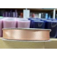 Beige Roze Satijn Lint 12 mm
