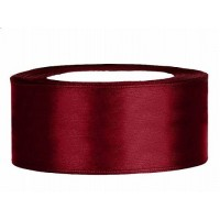Donker Rood Satijn Lint 25 mm