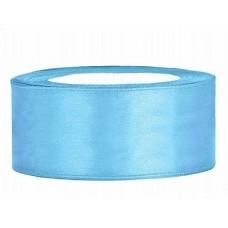 Licht  Blauw Satijn Lint 25 mm