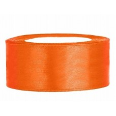 Oranje Satijn Lint 25 mm