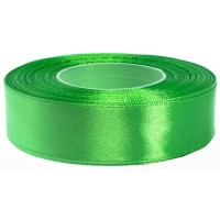 Helder Groen Satijn Lint 25 MM