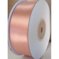 Beige Roze Satijn Lint 25 mm