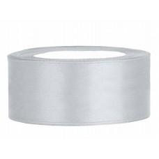 Zilver Satijn Lint 25 mm