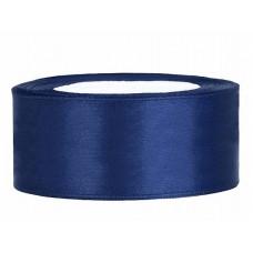 Donker Blauw Satijn Lint 25 mm