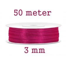 Lint Donker Roze 3 MM X 50 Meter