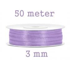 Smal Satijn Lint 3 mm Licht  Lila