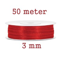 Lint Rood 3 MM X 50 Meter