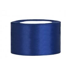 Diep Blauw Satijn Lint 38 mm