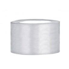 Zilverkleurig Satijn Lint 38 mm