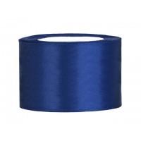 Diep Blauw Satijn Lint 50 mm