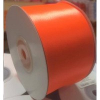 Neon Oranje Satijn Lint 50 mm