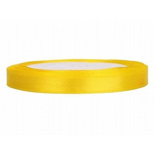 Geel lint 6mm 25 meter satijnlint op rol - Geel fluweel ...