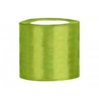 Appel Groen Satijn Lint 75 mm