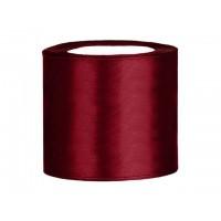 Donker Rood Satijn Lint 75 mm