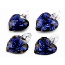 Glazen Bedel Hanger Hart Marine Blauw
