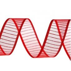 Organza Lint 24 mm rood