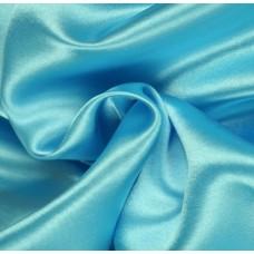 Satijn Stof Aqua Blauw 150 Cm