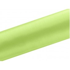 Satijn Stof op Rol Appel Groen 16 cm. Breed, 9 Meter per Rol