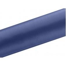 Satijn Stof op Rol Blauw 16 cm. Breed, 9 Meter per Rol
