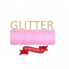 Tule Glitter Licht Roze