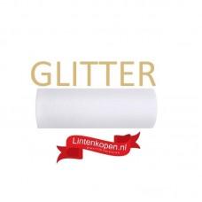 Tule Glitter Wit