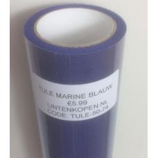 Marine Blauwe Tule Op Rol 50 cm Breed