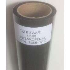 Zwarte Tule Op Rol 50 cm Breed