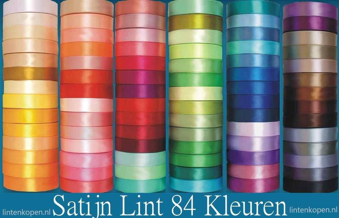 satijn lint in 70 kleuren
