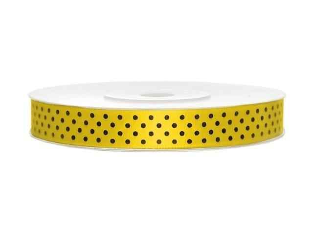 Geel lint zwarte stippen