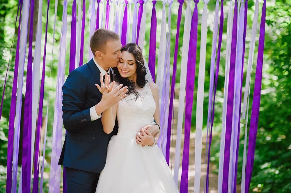 Satijn linten voor de bruiloft
