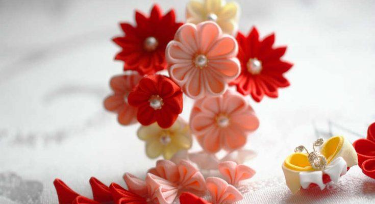 kanzashi-bloem